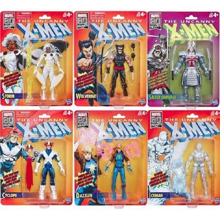 MARVEL LEGENDS RETRO - UNCANNY X-MEN WAVE 1 SET COMPLETO ACTION FIGURE