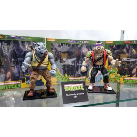 TMNT TEENAGE MUTANT NINJA S2 TURTLES ROCKSTEADY & BEBOP 2-PACK ACTION FIGURE