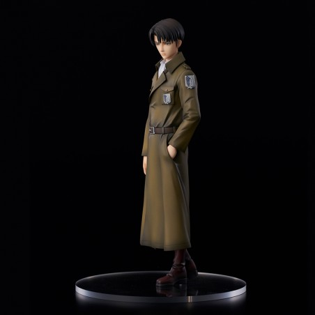 ATTACK ON TITAN LEVI COAT STYLE STATUE FIGURE