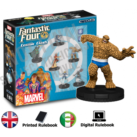 MARVEL HEROCLIX FANTASTIC FOUR COSMIC CLASH STARTER KIT GIOCO DA TAVOLO