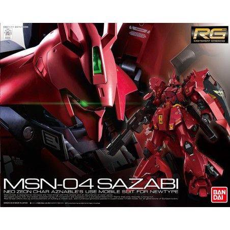 RG REAL GRADE GUNDAM MSN-04 SAZABI 1/144 MODEL KIT ACTION FIGURE
