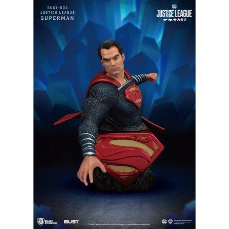 JUSTICE LEAGUE SUPERMAN BUST 002 1/2 FIGURE 15CM STATUE