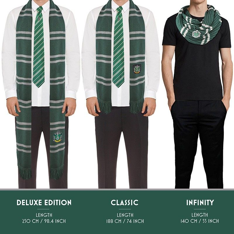 HARRY POTTER SLYTHERIN SERPEVERDE DELUXE SCARF SCIARPA CINEREPLICAS