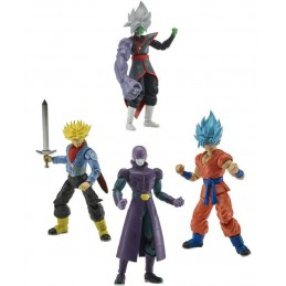 DRAGON BALL SUPER DRAGON STARS GOKU TRUNKS E HIT SET 3 ACTION FIGURES BANDAI