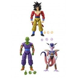 BANDAI DRAGON BALL SUPER DRAGON STARS GOKU PICCOLO E FRIEZA SET 3 ACTION FIGURES