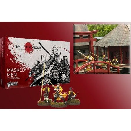 TEST OF HONOUR THE SAMURAI MINIATURE GAME -  MASKED MEN FIGURE