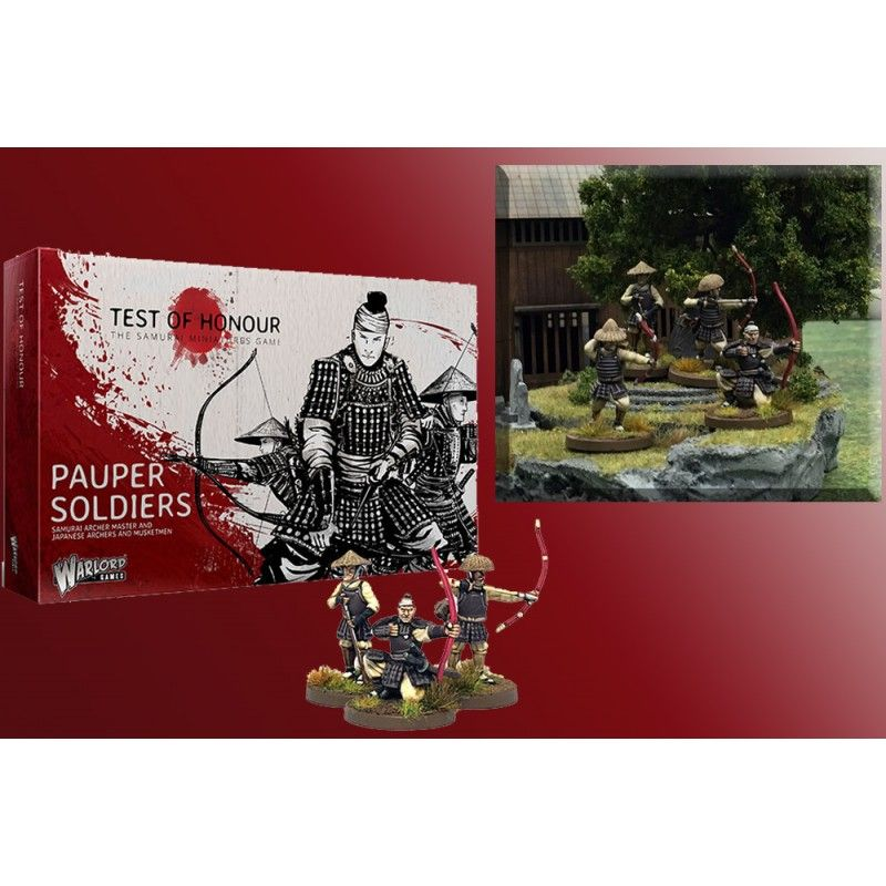 WARLORD GAMES TEST OF HONOUR THE SAMURAI MINIATURE GAME - PAUPER SOLDIERS FIGURE