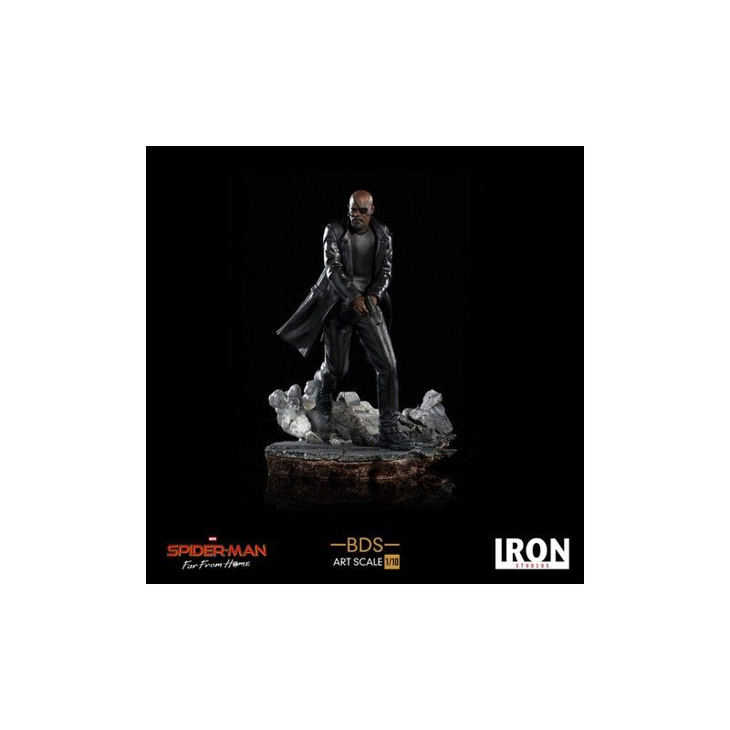 IRON STUDIOS SPIDER-MAN FAR FROM HOME NICK FURY 1/10 RESIN STATUE FIGURE