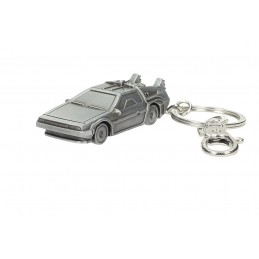 SD TOYS BACK TO THE FUTURE DELOREAN METAL KEYCHAIN PORTACHIAVI RITORNO AL FUTURO