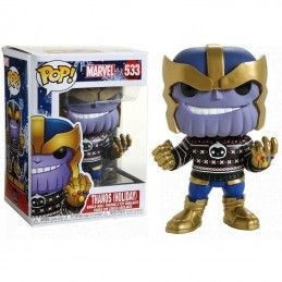 FUNKO FUNKO POP! MARVEL - THANOS HOLIDAY BOBBLE HEAD FIGURE
