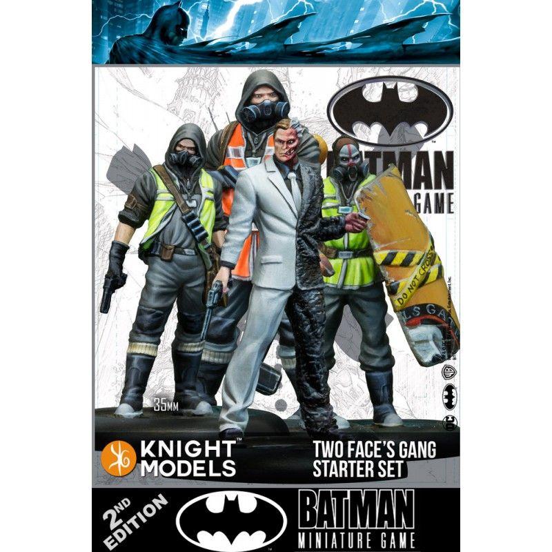KNIGHT MODELS BATMAN MINIATURE GAME - TWO FACE GANG STARTER SET MINI RESIN STATUE FIGURE