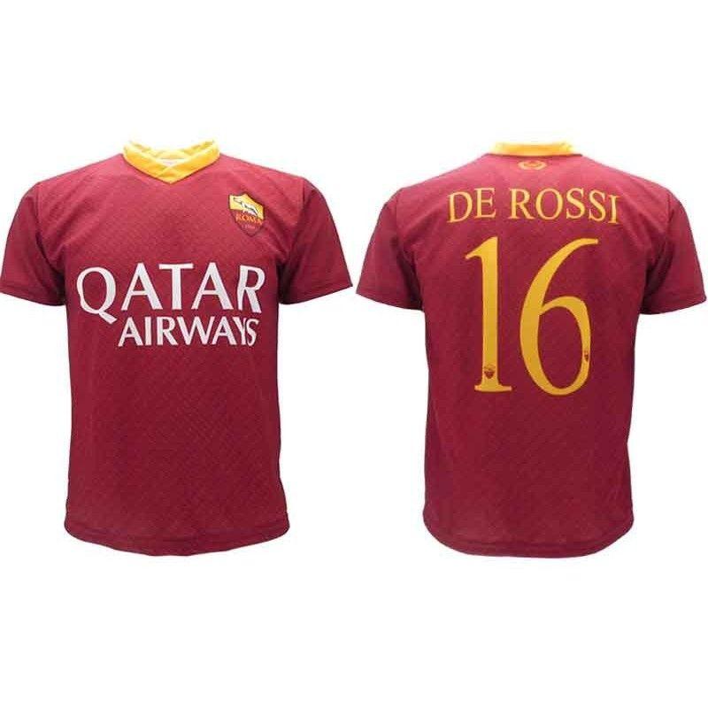 Pantaloncini Completo Roma DE ROSSI 16 Replica Ufficiale 2018-2019 ...