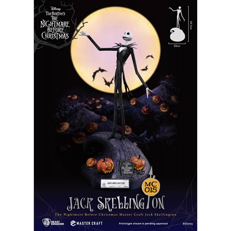BEAST KINGDOM THE NIGHTMARE BEFORE CHRISTMAS - JACK SKELLINGTON MASTER CRAFT 40CM STATUE FIGURE