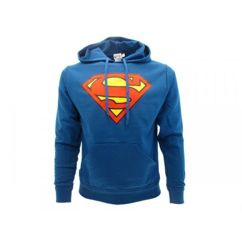 FELPA HOODIE SUPERMAN LOGO BLU