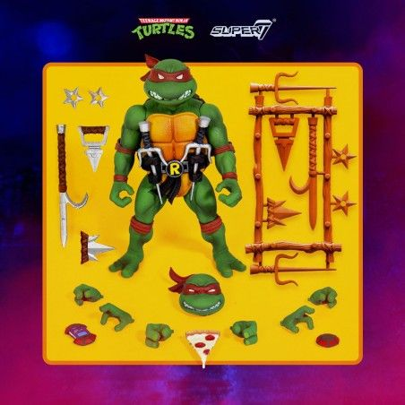 TMNT TEENAGE MUTANT NINJA TURTLES ULTIMATES RAPHAEL ACTION FIGURE