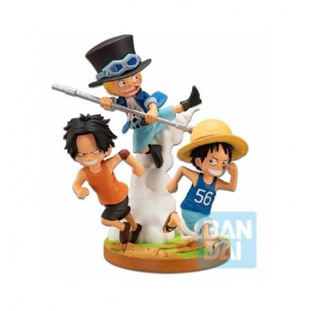 ONE PIECE ICHIBANSHO PVC DIORAMA THE BONDS OF BROTHERS STATUE 12CM FIGURE