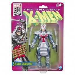MARVEL LEGENDS RETRO - UNCANNY X-MEN SILVER SAMURAI ACTION FIGURE HASBRO