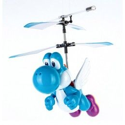 CARRERA SUPERMARIO FLYING LIGHT BLUE YOSHI CARRERA RC MODEL RADIOCOMANDATO