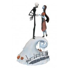 THE NIGHTMARE BEFORE CHRISTMAS - JACK AND SALLY MILESTONES 35CM FIGURE STATUE DIAMOND SELECT