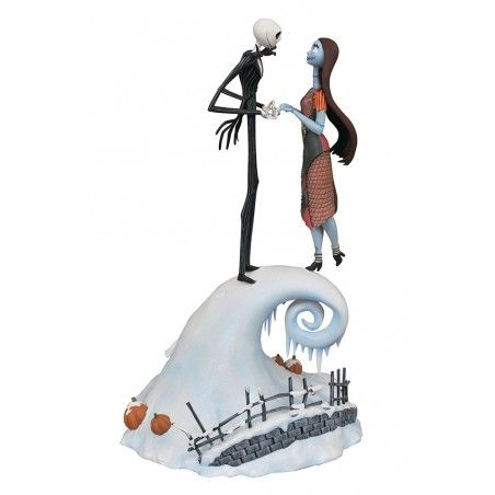 THE NIGHTMARE BEFORE CHRISTMAS - JACK AND SALLY MILESTONES 35CM FIGURE STATUE