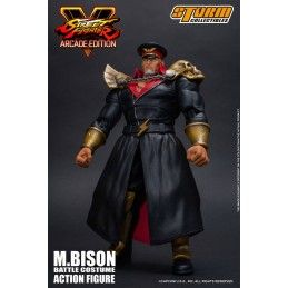 STORM COLLECTIBLES STREET FIGHTER V 5 ARCADE EDITION - M.BISON BATTLE COSTUME 1/12 SCALE ACTION FIGURE