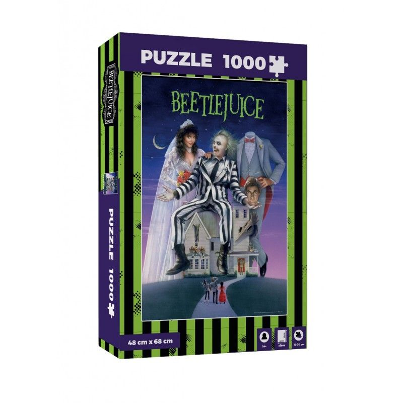 SD TOYS BEETLEJUICE MOVIE POSTER 1000 PIECES PEZZI JIGSAW PUZZLE 48x68cm