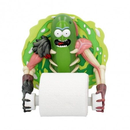 RICK AND MORTY - PICKLE RICK TOILET ROLL HOLDER PORTA CARTAIGIENEICA