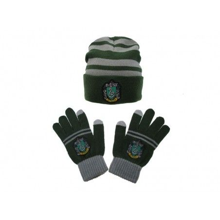 HARRY POTTER SLYTHERIN SERPEVERDE BERRETTA E GUANTI BEANIE GLOVES