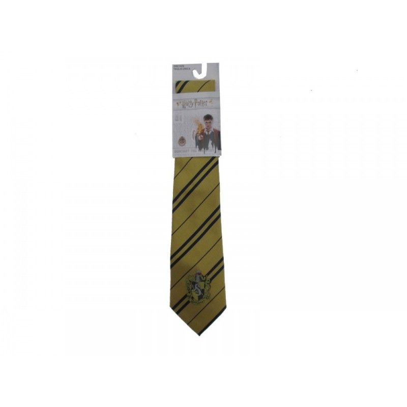 CINEREPLICAS HARRY POTTER HUFFLEPUFF TASSOROSSO NECKTIE CRAVATTA