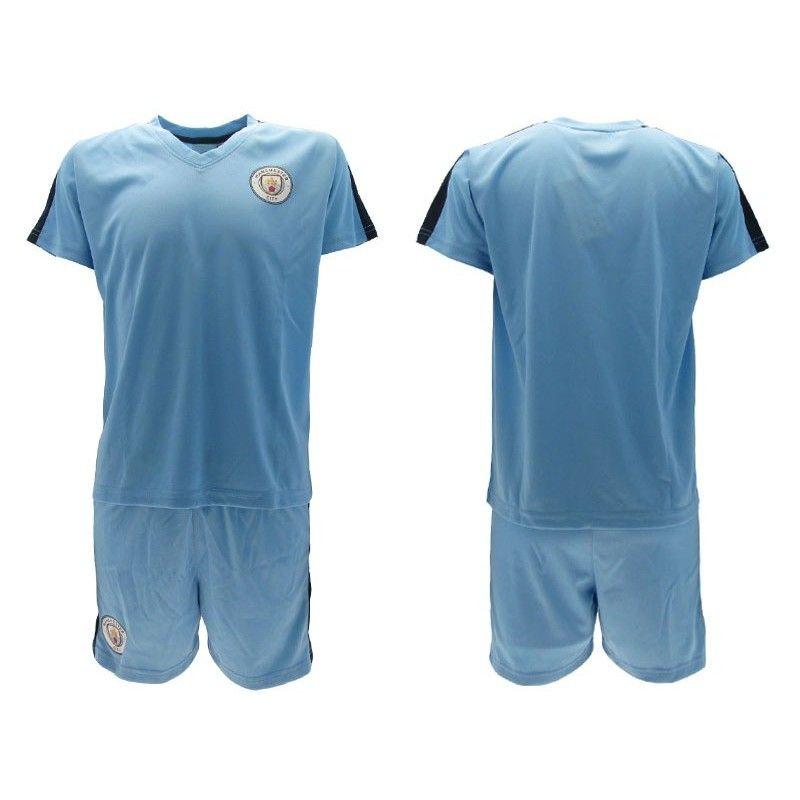SET MAGLIA E PANTALONCINI CALCIO UFFICIALE MANCHESTER CITY FC 2019 2020