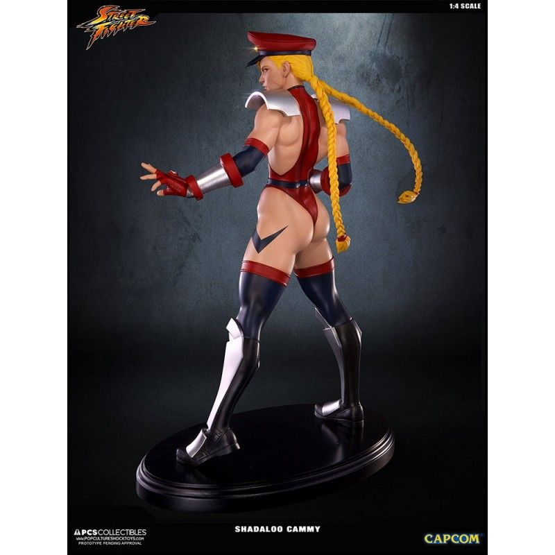 STREET FIGHTER - SHADALOO CAMMY 1/4 43CM STATUE FIGURE POP CULTURE SHOCK COLLECTIBLES