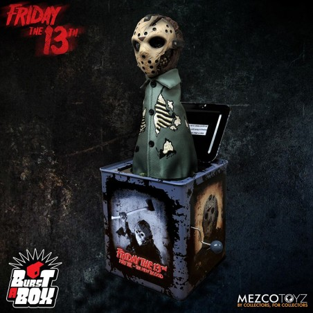FRIDAY THE 13TH JASON VOORHEES BURST A BOX SCATOLA A MOLLA FIGURE 30 CM