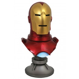 DIAMOND SELECT MARVEL LEGENDS 3D IRON MAN 1/2 23CM RESIN BUST STATUE