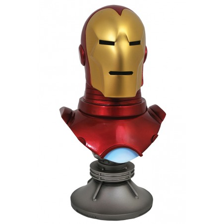 MARVEL LEGENDS 3D IRON MAN 1/2 23CM RESIN BUST STATUE