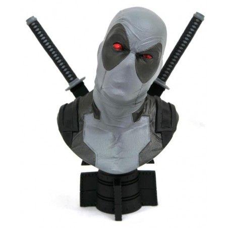 MARVEL LEGENDS 3D - X-FORCE DEADPOOL 25CM RESIN BUST STATUE FIGURE