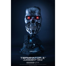 PURE ARTS TERMINATOR 2 - T-800 ART MASK LIMITED EDITION REPLICA RESIN STATUE 45CM FIGURE