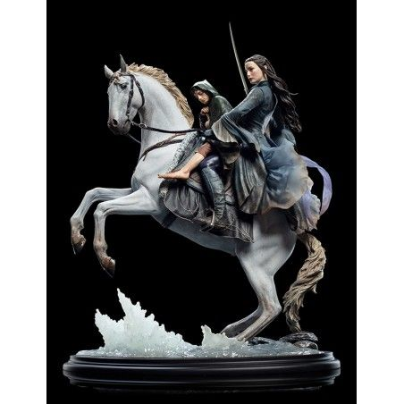 LORD OF THE RINGS - ARWEN AND FRODO ON ASFALOTH 1/6 50CM RESIN STATUE FIGURE