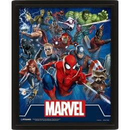 MARVEL UNIVERSE LENTICULAR 3D POSTER 25X20CM PYRAMID INTERNATIONAL