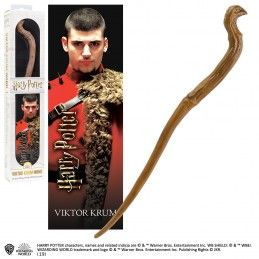 NOBLE COLLECTIONS HARRY POTTER - VICTOR KRUM PVC WAND REPLICA BACCHETTA