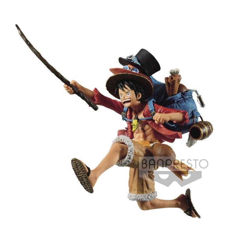 One Piece Three Brothers Monkey D Luffy Statue Figure Banpresto