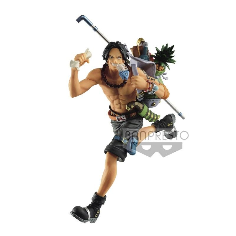ONE PIECE THREE BROTHERS - PORTGAS D. ACE STATUE FIGURE BANPRESTO