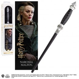 NOBLE COLLECTIONS HARRY POTTER - NARCISSA MALFOY PVC WAND REPLICA BACCHETTA