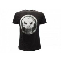 MAGLIA T SHIRT MARVEL PUNISHER NERA