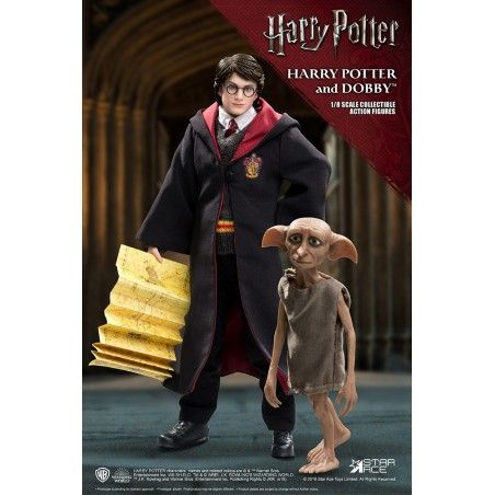 HARRY POTTER - HARRY POTTER AND DOBBY TWIN PACK 1/8 SCALE 22CM COLLECTIBLE ACTION FIGURE