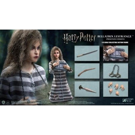 HARRY POTTER BELLATRIX LESTRANGE PRISONER 1/6 SCALE ACTION FIGURE