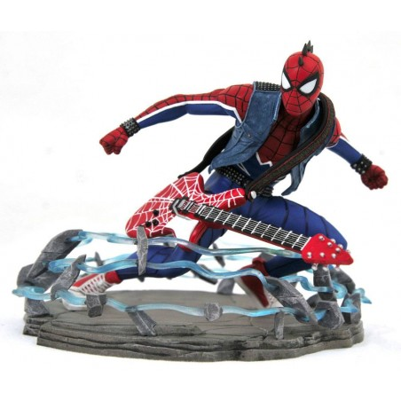 MARVEL GALLERY SPIDER-MAN PS4 VIDEOGAME - SPIDER-PUNK EXCLUSIVE 18CM STATUE FIGURE