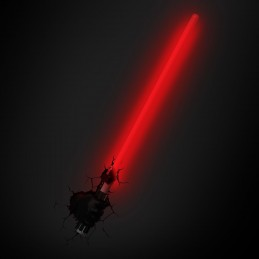 STAR WARS SPADA LASER DARTH VADER LIGHTSABER 3D DECO LIGHT LAMPADA DA MURO