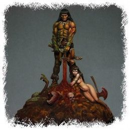 CONAN THE BARBARIAN 1/24 RESIN DIORAMA STATUE FIGURE KABUKI