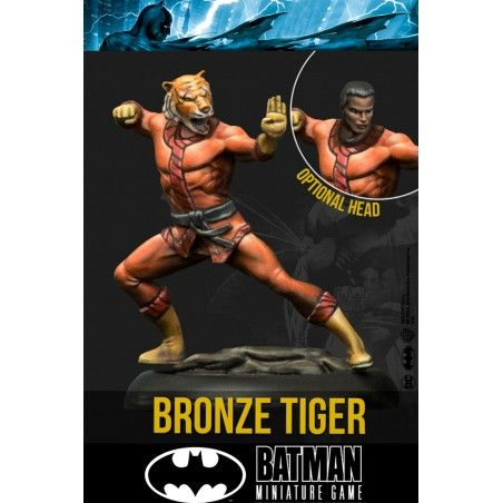 BATMAN MINIATURE GAME - BRONZE TIGER MINI RESIN STATUE FIGURE