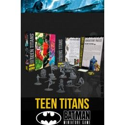 BATMAN MINIATURE GAME - TEEN TITANS MINI RESIN STATUE FIGURE KNIGHT MODELS